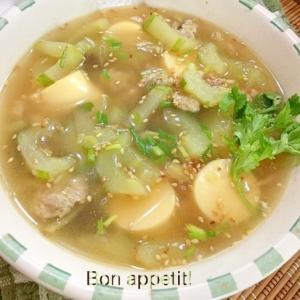 ★☆残った餃子の餡で♪胡瓜のスープ★☆