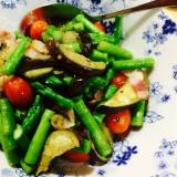 【ガサツ料理】夏野菜のレモン炒め