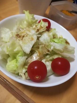 自家製胡麻ドレッシングのレタスサラダ