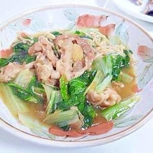 豚肉と小松菜のあんかけ