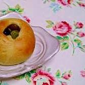 まるで和菓子!?抹茶の甘納豆パン♪