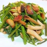 簡単✿空芯菜とエリンギのニンニク醤油炒め❤