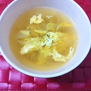 我が家のオニオン卵スープ