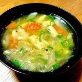 鶏もも肉と野菜の味噌汁