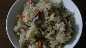 炊飯器で簡単牛肉の炊き込みご飯
