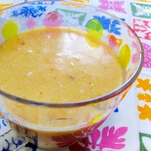 完熟柿とココナッツミルクの簡単スムージー