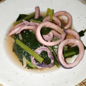 イカと小松菜のさっと煮