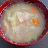 キャベツの芯と野菜の味噌汁