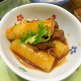 トッポギと牛肉の甘辛煮