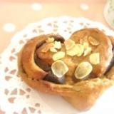 簡単で美味しいカフェオレハートロールパン