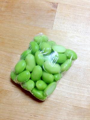 離乳食☆枝豆下準備と冷凍保存!