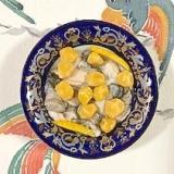 牡蠣、柚子の和え物に銀杏