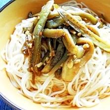 ずぼら~でご麺(なす炒り冷麦)
