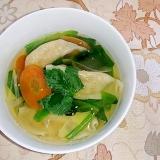 深夜に食べる和風餃子スープ