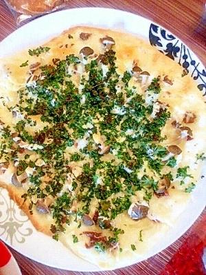 発酵なし!簡単美味しい「しめじ&アンチョビピザ」