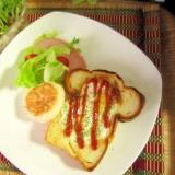 可愛い♪フライパンで目玉焼きトースト