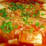 """うま辛♪我が家の""""豆腐とキムチの土鍋煮"""""""