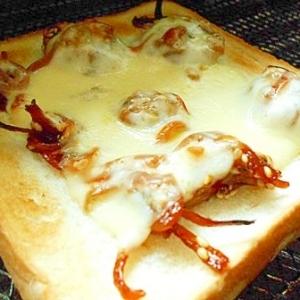 小女子くるみ(佃煮)で チーズトースト
