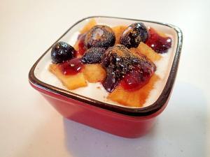 美的 柿とブルーベリーのヨーグルト