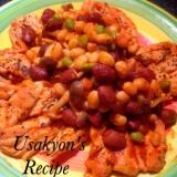 簡単エスニック☆メキシコ風豆とささ身のトマト煮