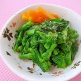 レンジで簡単*菜の花のバター醤油おひたし*