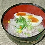 中華スープで塩ラーメン風素麺!
