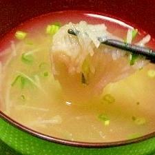 長芋と梅干しのすまし汁
