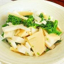 たけのこ、長芋、菜の花の和風サラダ