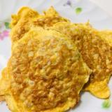 簡単!豚ひき肉と卵のペタ焼き