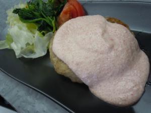 ダブル豆腐☆明太子豆腐マヨソースの豆腐ハンバーグ