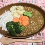 大豆ミンチとオーブン焼き野菜カレー