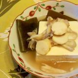 豆腐と舞茸・手芋の汁物