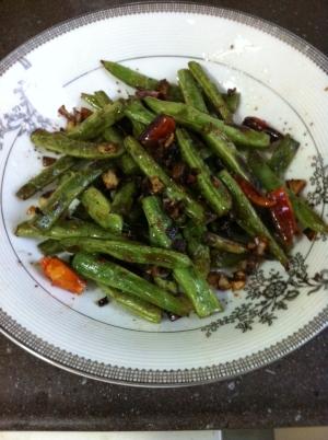 干煸豆角(インゲンの花椒炒め)