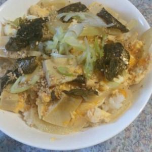 韓国風☆高野豆腐の卵とじ丼