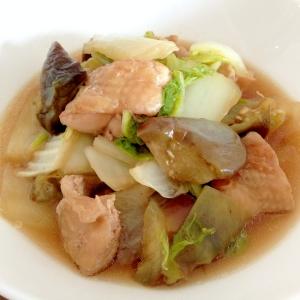 昆布つゆで簡単☆鶏肉となすの煮浸し