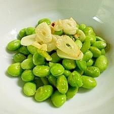 むき枝豆のガーリックバター焼き