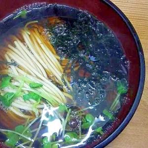 かいわれ刻み海苔蕎麦