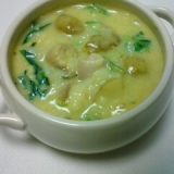 サバのカレー風味スープご飯