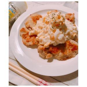 レンチン新玉葱のタルタルソース&鶏肉のムニエル♪