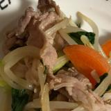 豚もやしとお野菜のオイスターソース炒め