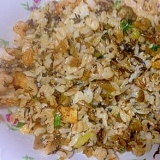 白菜と薄揚げの高菜チャーハン