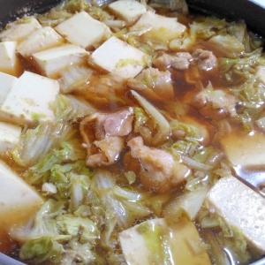 昆布つゆで☆鶏肉と白菜の和風鍋