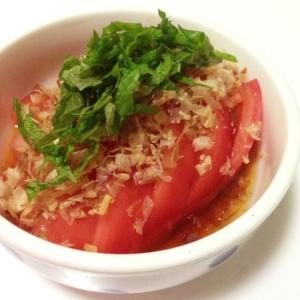 トマトと大葉の簡単おつまみ