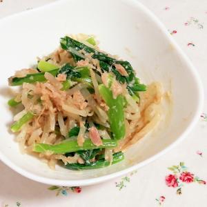 レンジで簡単作りおき!小松菜ともやしの和風ツナ和え