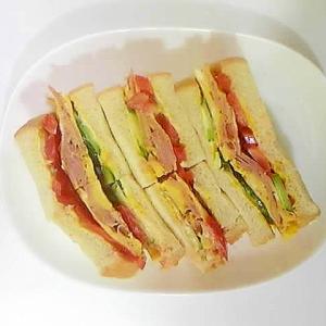 ハム卵野菜サンド
