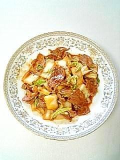簡単味付け☆豚肉と白菜のキムチ炒め☆