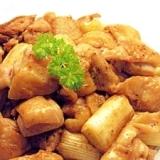 鶏とネギのマヨ胡椒炒め