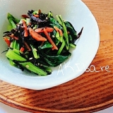 余ったひじきの煮物で!ひじきと小松菜の和え物♪