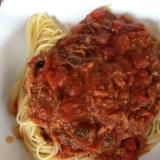 オイルサーディンのトマトソースパスタ