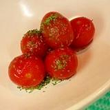 ミニトマトの酢の物